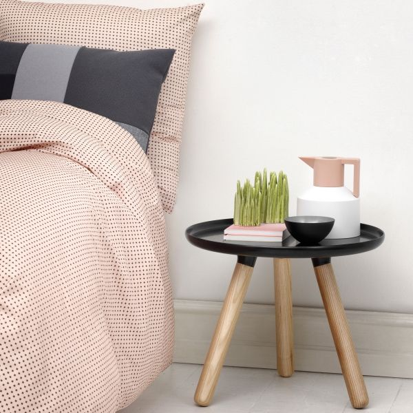 Pink Beige With Charcoal And Gloss Black Normann Copenhagen Tablo Table Small