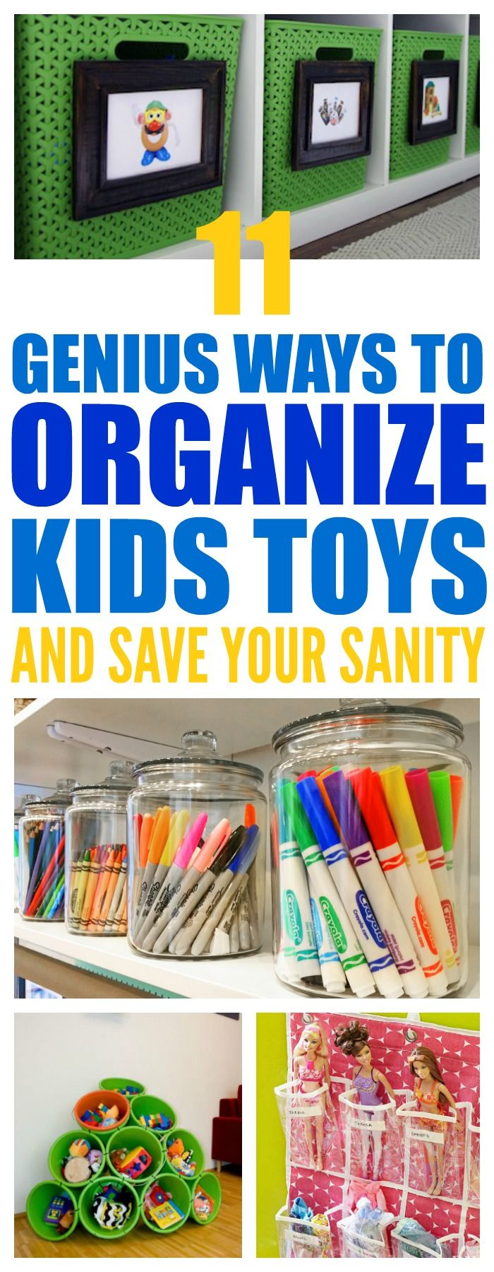 Organize kids toys & art supplies