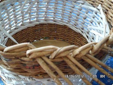 Мастер-класс Поделка изделие Плетение плетенка- 3 в одном Бумага газетная Трубочки бумажные фото 2