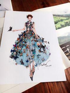 Inspire-se com as ilustrações fashion de Eris Tran – Industria Textil e do Vestuário - Textile Industry - Ano X