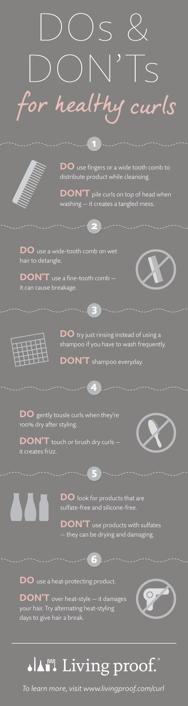 Got naturally curly hair? Here are the do's and don'ts for keeping your curls…