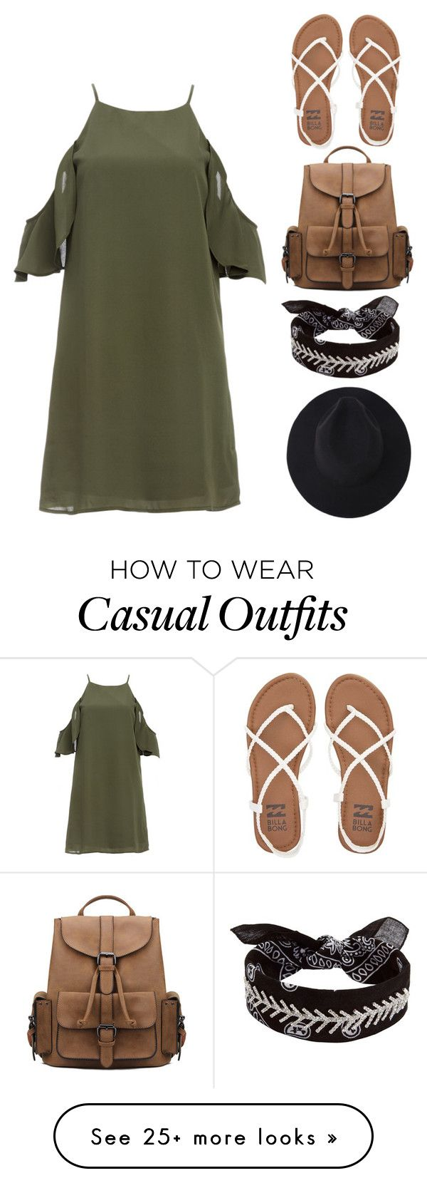 """casual"" by gervazalfonsina on Polyvore featuring DailyLook, Billabong and Fallon"