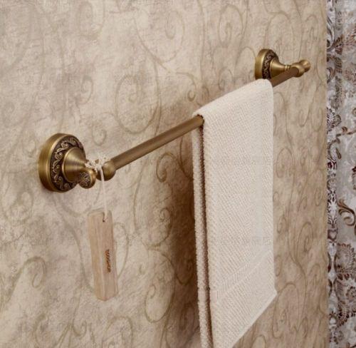 Wall-Mount-Single-Towel-Bar-Antique-Brass-Bath-Towel-Rack
