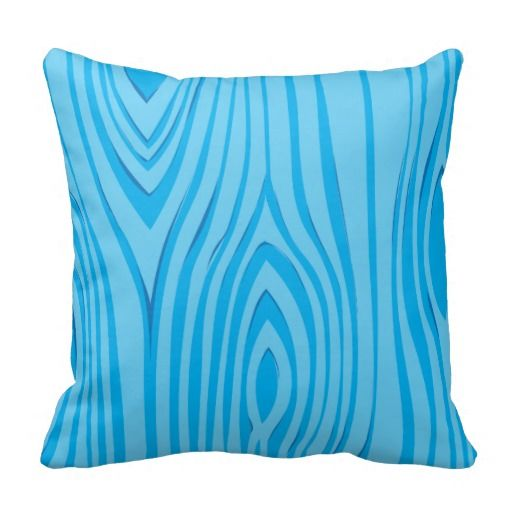 De heldere Blauwe Houten Vector van de Korrel Decoratie Kussen