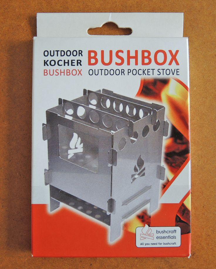 WERBUNG:  Bushcraft Essentials Bushbox Version 4 der Outdoorkocher für Unterwegs, einfach und leicht in der Anwendung, mit gutem Kamineffekt