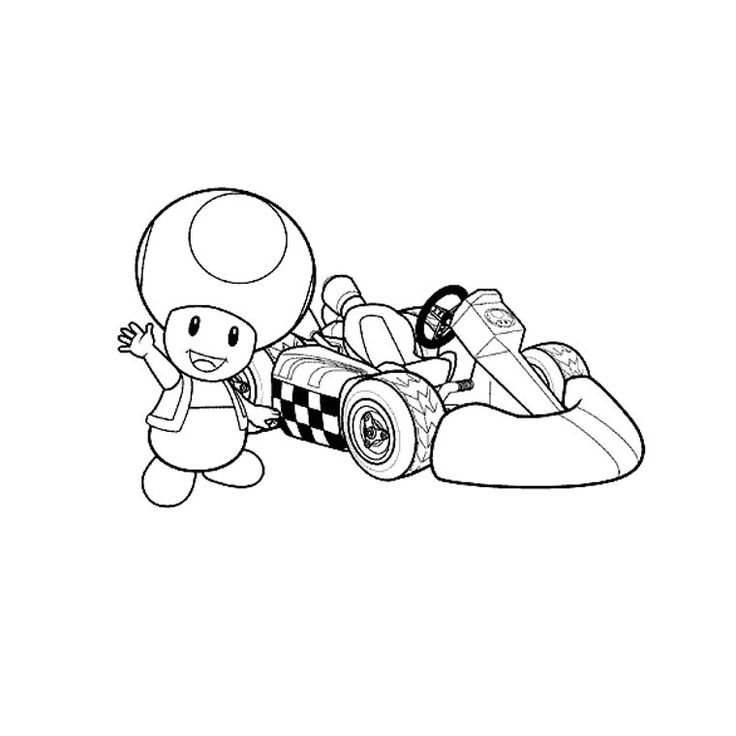 mario kart dessin coloriage in 2020 | Art, Character, Fictional characters