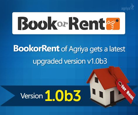 BookorRent of Agriya gets a latest upgraded version of v1.0b3
