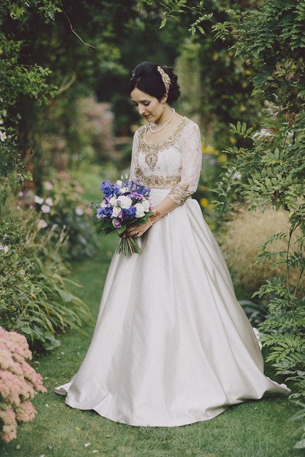 Indian irish fusion wedding dresses