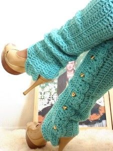 Crochet Leg Warmers with Stirrups by by...