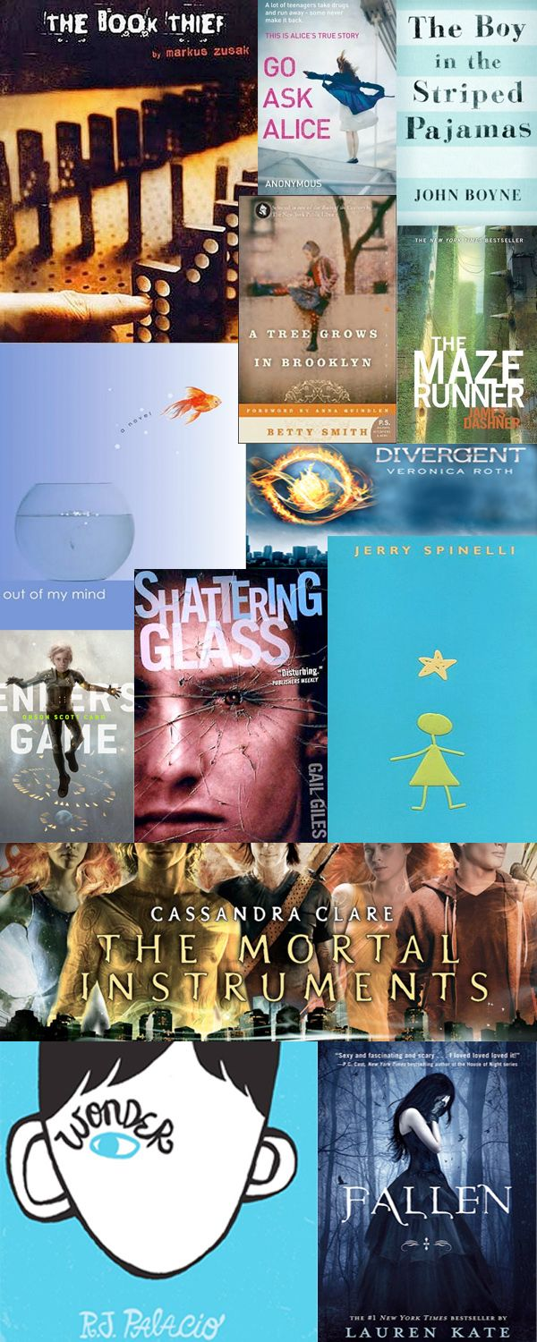 The Top Books Every Home Should Have...for every age! >> Top 10 Young Adult Literature. #books What's your favorite?
