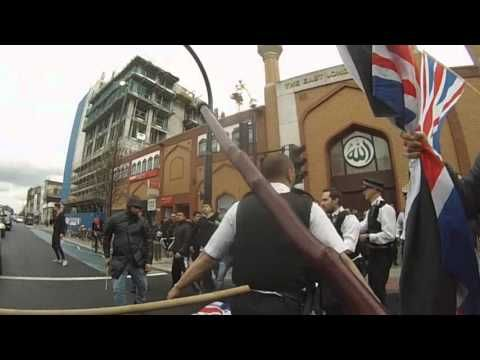 Britain First Holds Peaceful Protest Outside Mosque In East London And Is Savagely Attacked By Rampaging Muslim Hordes Coming Out Of The Mosque | Walid Shoebat