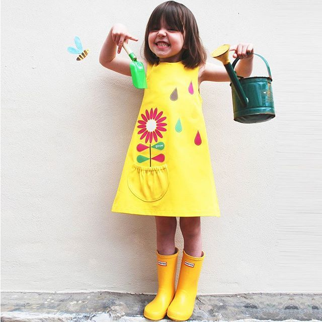 Bring the sunshine... we have a soft spot for yellow, and this cute little dress is sure to lift any little girls spirits. To find this search 'Flower Dress' on dtll.com.au (link in profile) #Flower #Dress #girl #yellow #cute #fashion #summer #digitalprin