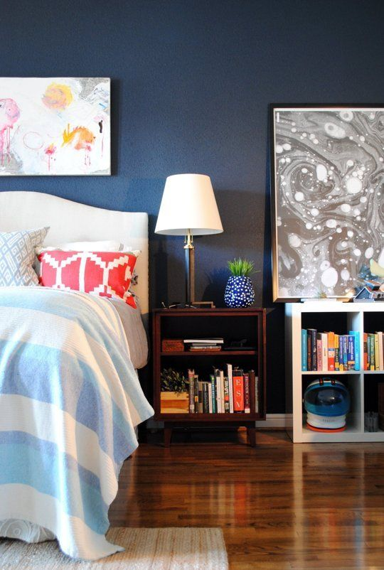 20 bold beautiful blue wall paint colors house tours Bold house colors