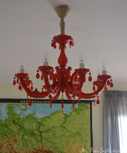 {DIY} Coral Red Chandy Make-Over