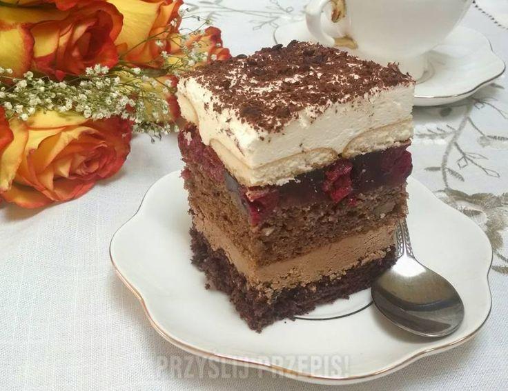 Ciasto orzechowo-wisniowe