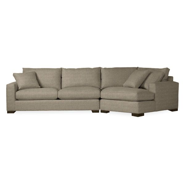 """Room & Board - Metro 140"""" Sofa with Right-Arm Angled Chaise"""