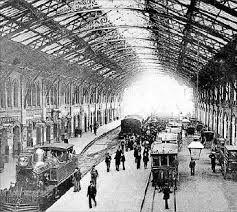 En 1897 apareix l'acabe relacions públiques en el Year Book de la Literatura de tren per a persuadir els consumidors nord-americans a utilitzar el nou sistema ferroviari