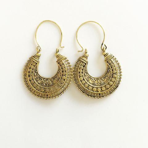 Tribal Oxidized Earrings