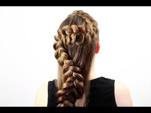 Обратная французская коса для очень длинных волос. Reverse French Braid for Logn Hair - YouTube