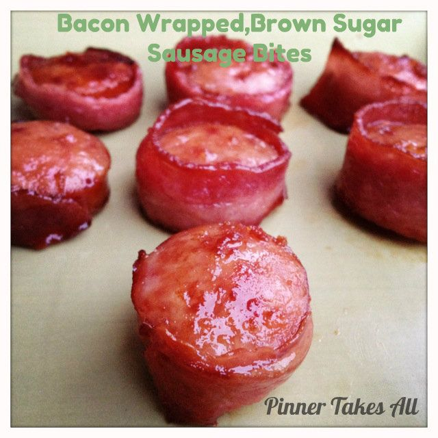 Tailgating Food: Bacon Wrapped Brown Sugar Sausage Bites - Sparkles and a Stove