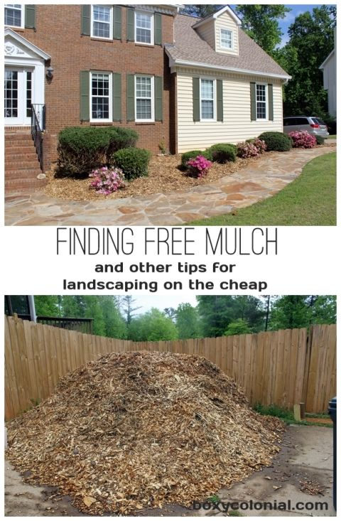 Finding Free Mulch.....and other tips for landscaping on the cheap (or free!)