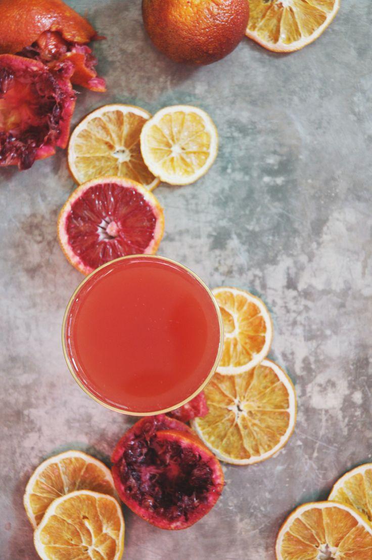 a little hanky panky | gin + blood orange + fernet-branca cocktail.
