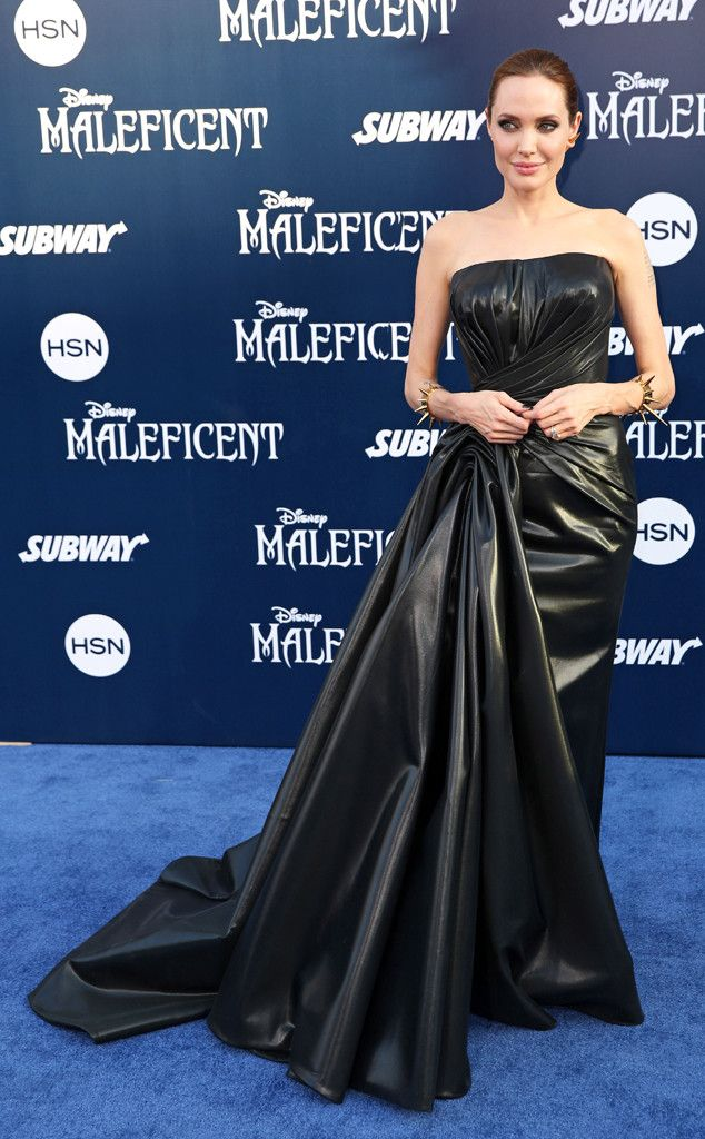 Click to see what the Fashion Police have to say about Angelina Jolie's Atelier Versace dress.