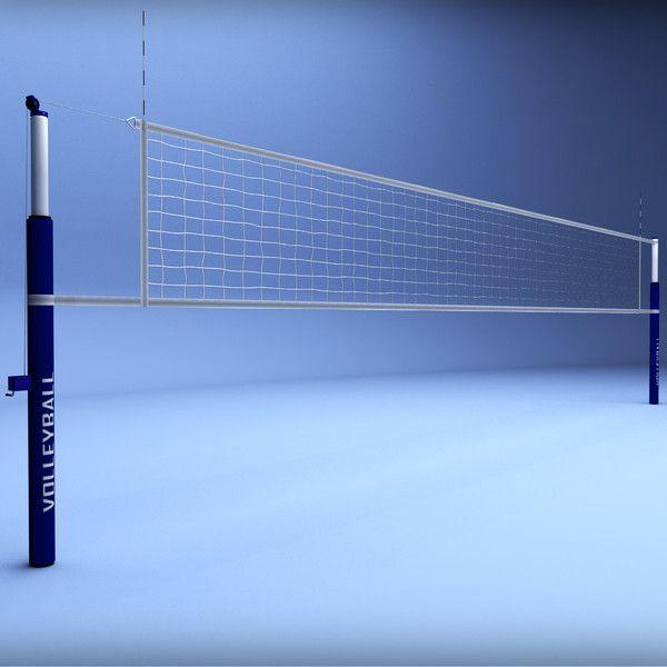 Volleyball Beach Court Stadium High Detail Volleyball Net Poly Volleyball