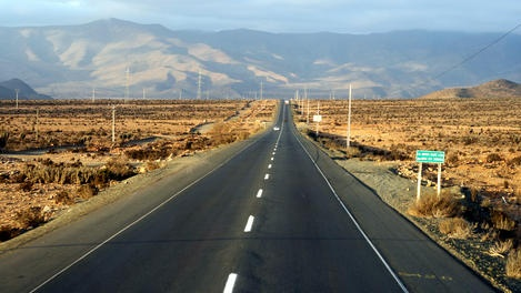 PanAmerican Highway (North of La Serena, Chile)