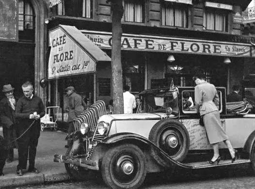 Café de Flore Paris, ca. 1953. Photo by Ed van Elsken