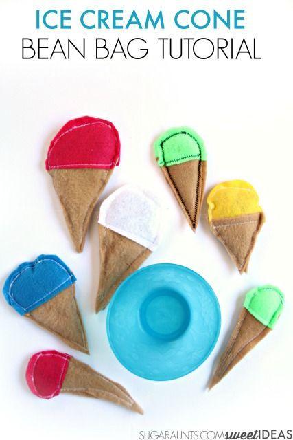 Fun summer game! Make a DIY ice cream bean bag toss.