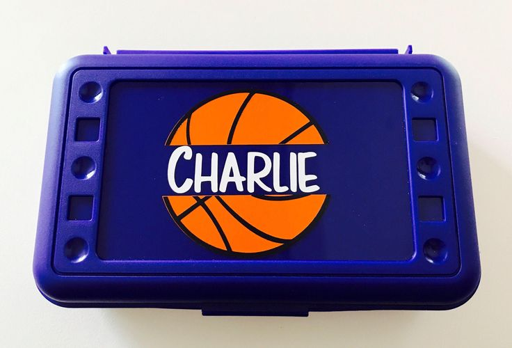 Personalized Pencil Boxes - Basketball by MamaBforMe on Etsy https://www.etsy.com/listing/538437565/personalized-pencil-boxes-basketball
