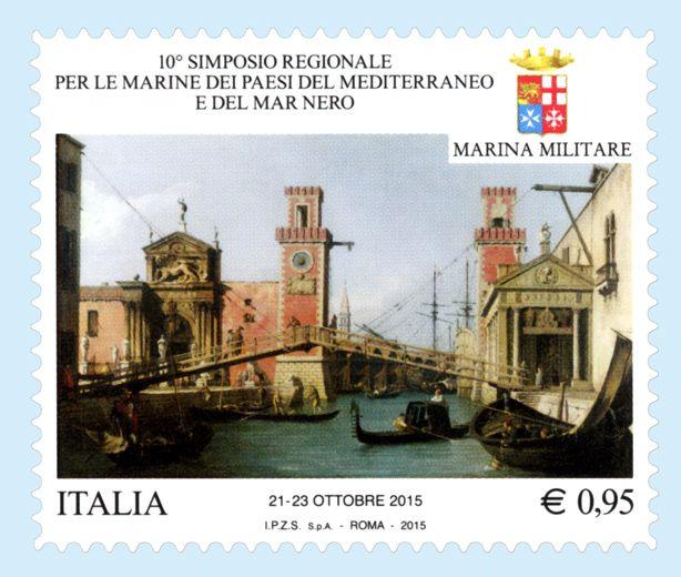 Francobollo celebrativo del Simposio regionale per le Marine dei Paesi del Mediterraneo e del Mar Nero