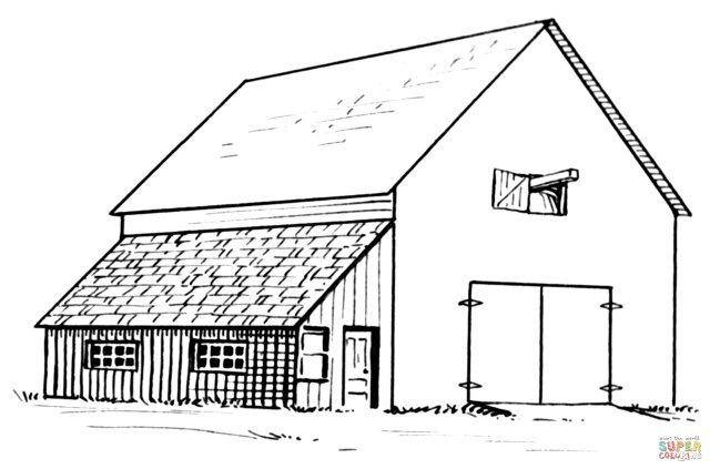 Barn Coloring Pages Farm Coloring Pages