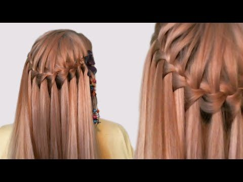 Hairstyle French Waterfall for Medium Long Hair Tutorial| Прическа Французский Водопад| Видео Урок - YouTube
