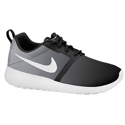 NIKE YOUTH ROSHE RUN FLIGHT WEIGHT IN BLACK/WOLF GREY/WHITE
