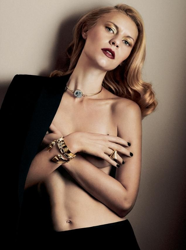 Claire Danes strips down in the December issue of Interview magazine.