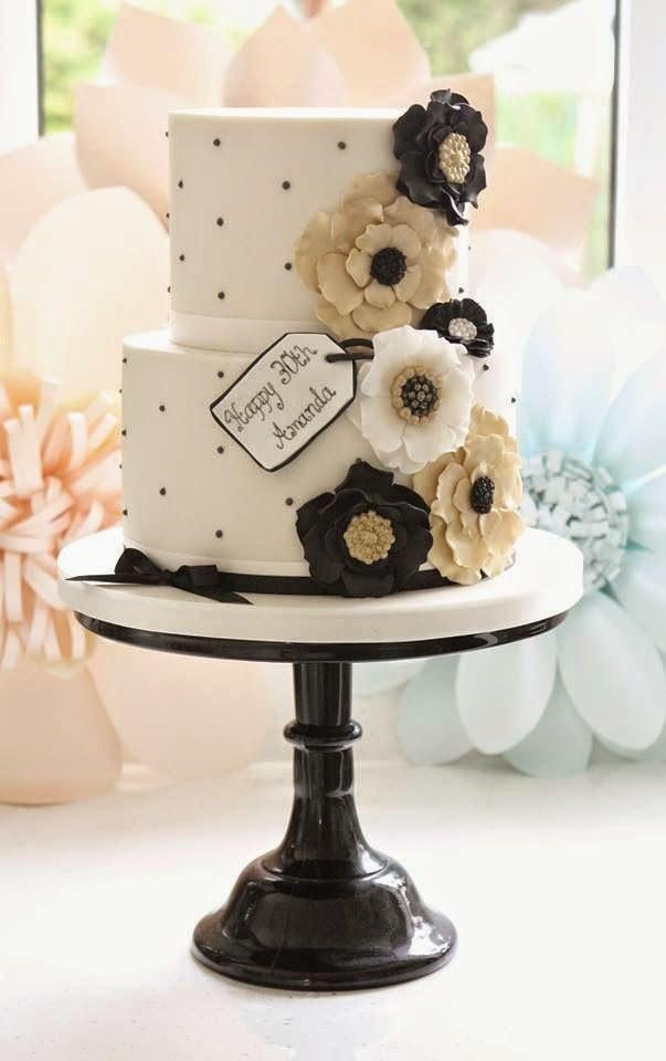 Bolos de casamento 2015 preto e branco, Bolos preto e branco, tendência para bolos de casamento, Bolos decorados 2015, Bolos de festa 2015