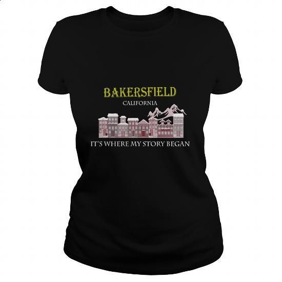Bakersfield, California. It's where my story began - #custom shirt #the first tee. PURCHASE NOW => https://www.sunfrog.com/Names/Bakersfield-California-Its-where-my-story-began-Black-Ladies.html?60505