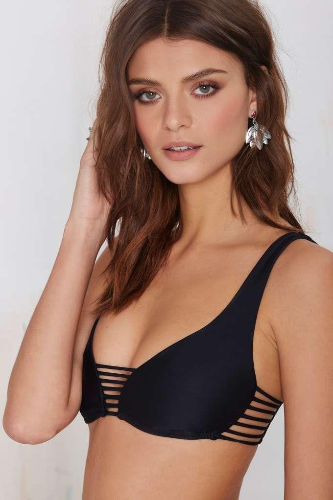 Nasty Gal Dip In Bikini Top