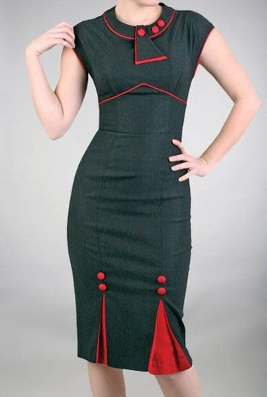 Items similar to CUSTOM MADE Pencil Wiggle Vintage Inspired Dress By IconicStyles On Etsy on Etsy
