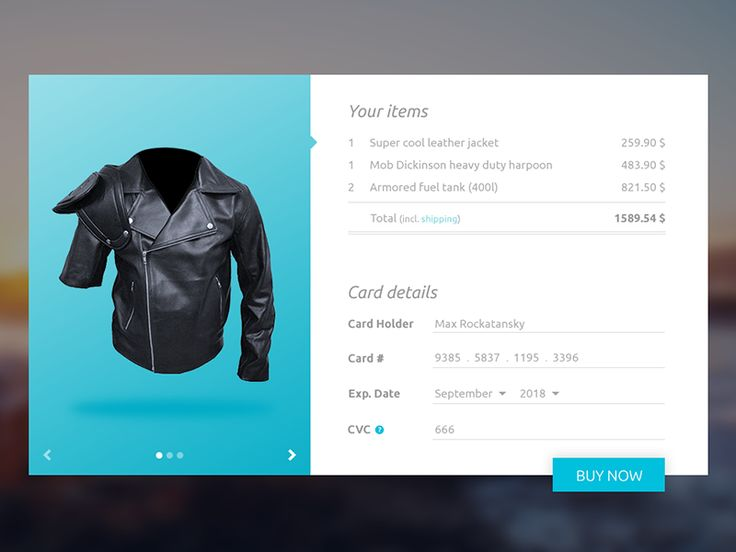 Credit Card Checkout - Daily UI 002