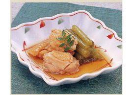 鶏とふきの煮物