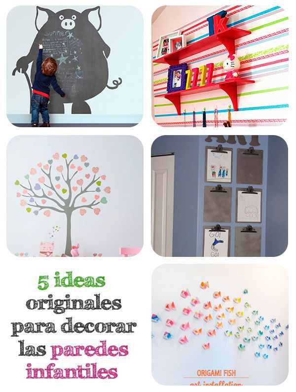 5 ideas originales para decorar paredes infantiles ideas