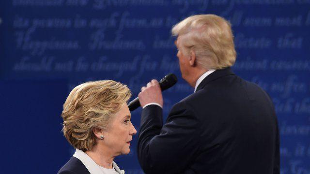 US Wahlkampf 2016 - knallhartes TV Duell zwischen Hillary Clinton und Donald Trump....