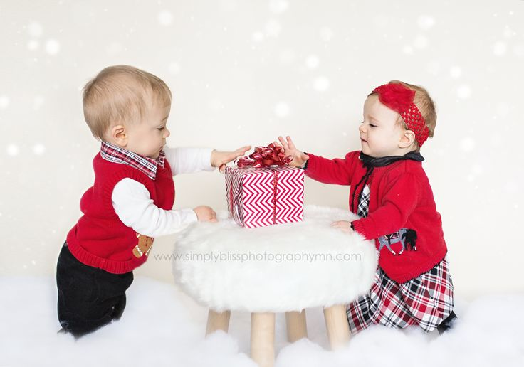 Christmas, Child Photography, Twins, One Year Old Twins
