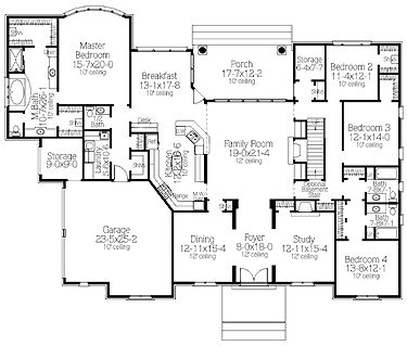 *great* Finally a good mostly 1 story floor plan! Has a 2nd story for a media room and jeff's office, but everything else is on one level - bedrooms, playroom, etc.