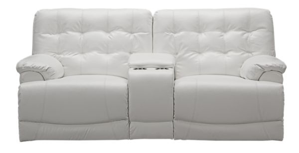 Denver White Console Sofa