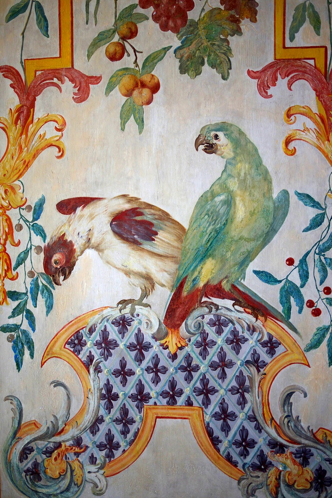 wall mural detail - Schleissheim Palace Munich, Bavaria, Germany