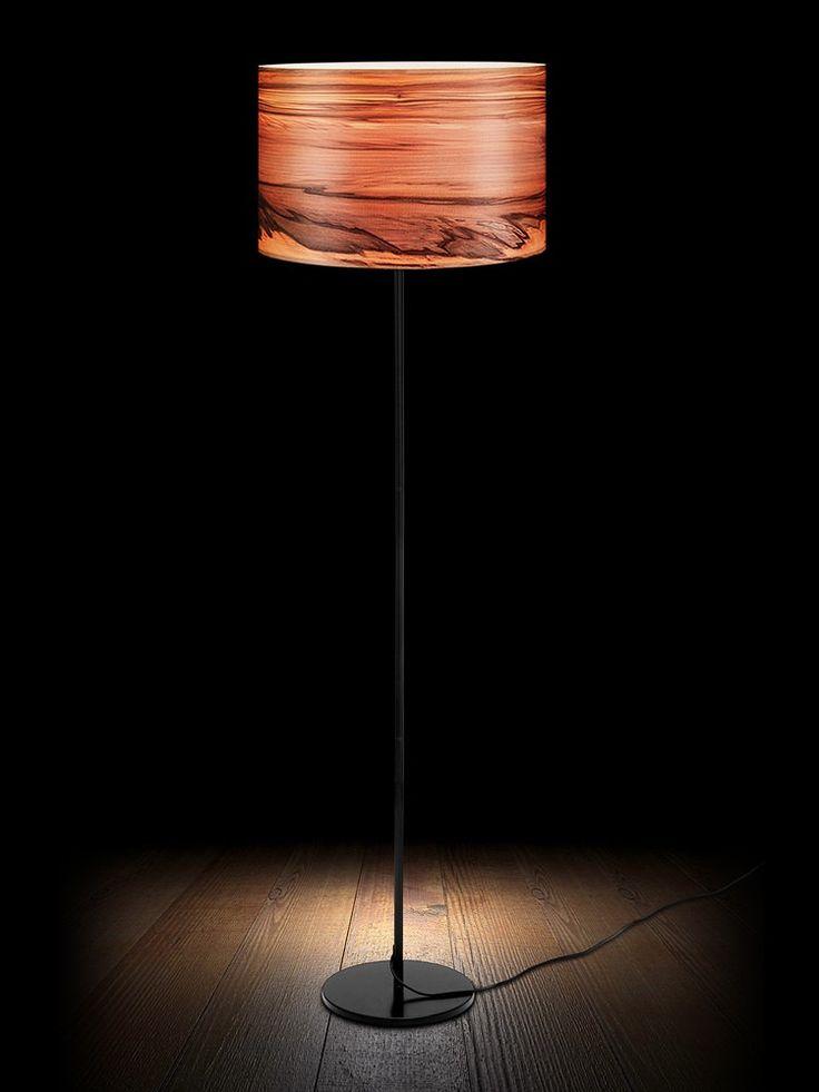 Wooden Floor Lamp,Natural Wood Lamps,Veneer Lamps, Lighting, Modern Lamps, Lampshades, Floor Lamps, SVEN by Sponndesign on Etsy